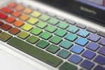 Rainbow Macbook Keyboard Decals