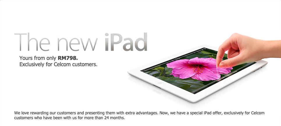 Celcom iPad Promo