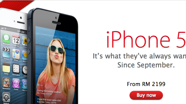 iPhone 5 Apple Online Store